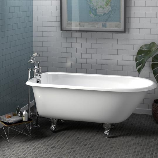 60 Carmine Cast Iron Clawfoot Tub Clawfoot Tub Diy Bathtub Tub