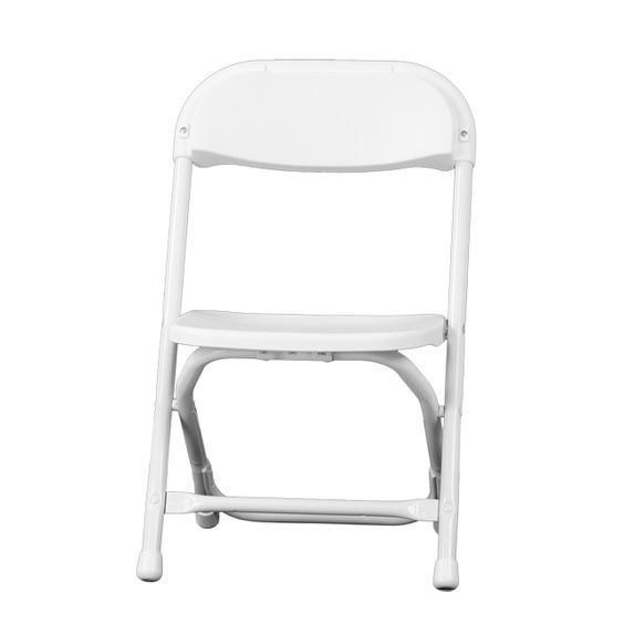 Kids White Plastic Folding Chair, Y-KID-WH-GG by Flash Furniture by Flash Furniture | BizChair.com