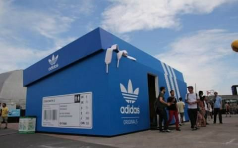 Adidas pop-up store...Dope
