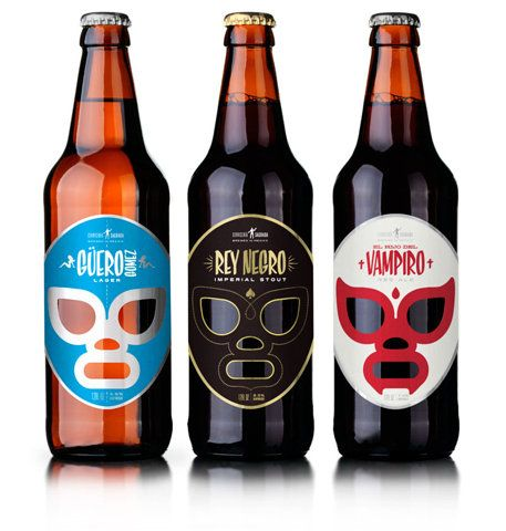 Cervecería Sagrada (sacred brewery). Mexican graphic designer José Guizar, has created the concept, brand, and designed the identity and packaging for this premium Mexican craft beer. The brand's identity is inspired by the golden era of lucha in the 1950's.