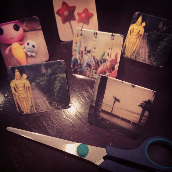 I made magnetic bookmarks using some of my favorite Instagram pictures. Tutorial soon.