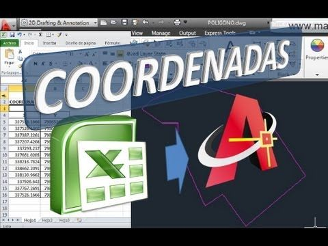 Pasar Coordenadas De Excel A Autocad Youtube Autocad Autocad Gratis Curvas De Nivel