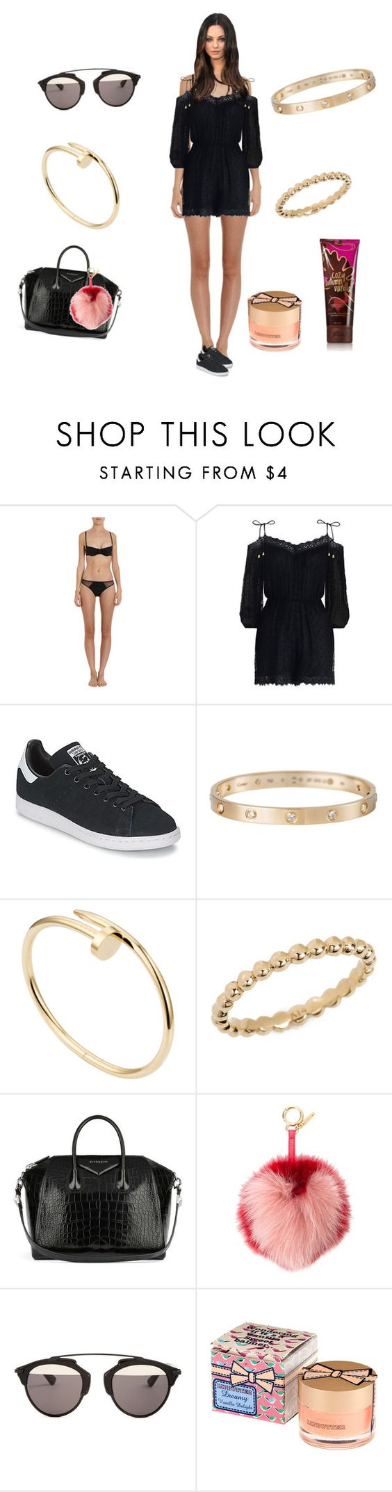"""Untitled #1784"" by rine23 ❤ liked on Polyvore featuring Cosabella, Zimmermann, adidas, Cartier, Anine Bing, Givenchy, Fendi, Christian Dior and H&M"