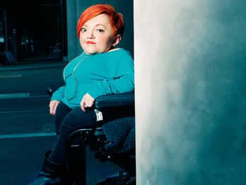 "Stella Young says ""I want people to think about disability more and I want people to think about ableism in the same way they think about racism."""