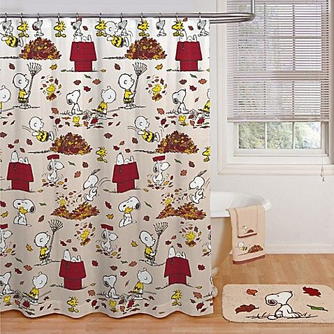 Peanuts Harvest Shower Curtain Collection Harvest Shower Shower Remodel Small Shower Remodel
