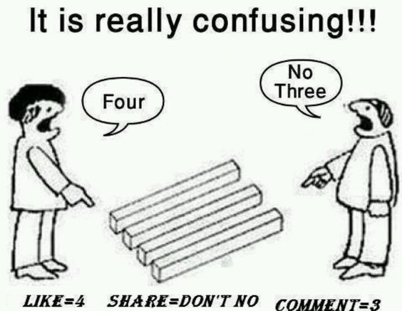 So confusing