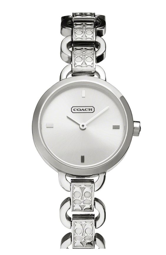 Carrie' Round Etched Link Bracelet Watch matches my bracelet