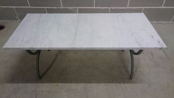 White marble coffee table - vintage / antique furniture for loungeroom