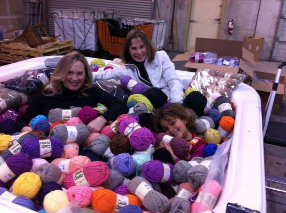 Hot tub of yarn at Jimmy Bean's.