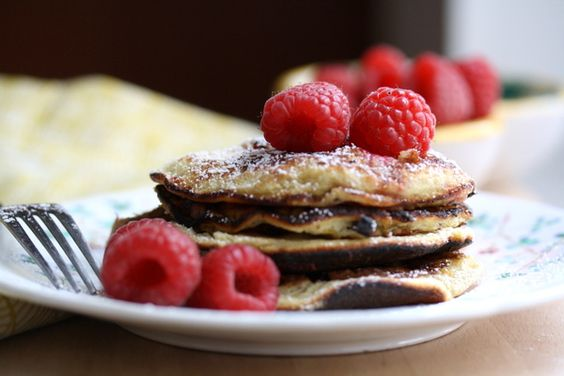 Almond Pancakes: Bfyb Pancakes, Almond Pancakes, Breakfast Recipes Rr, Raspberries Recipe, Recipes Breakfasts, Breakfast Sweets