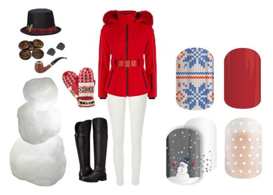 """""""Guess the Christmas Song - Jamberry Nails Game"""" by kspantonjamon on Polyvore featuring River Island, Fendi, Naturalizer and Isotoner"""