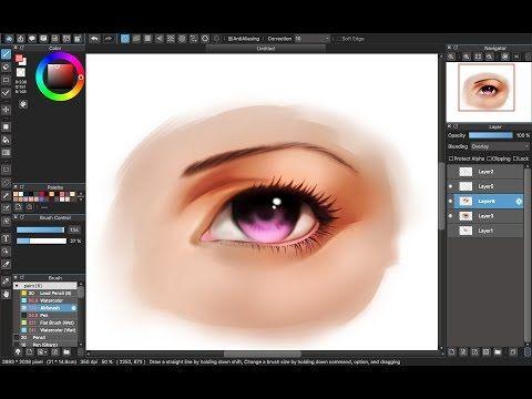 Medibang Paint Pro Desktop Version How To Eye Color Tutorial Part 7 Color Semi Realistic Ey Realistic Eye Digital Painting Tutorials Digital Art Tutorial