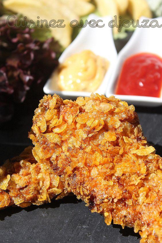 Recette de poulet kfc fait à la maison. Le poulet est pané dans une chapelure épicée. Les recettes des tenders et des pilons sont bien croustillants, dorés