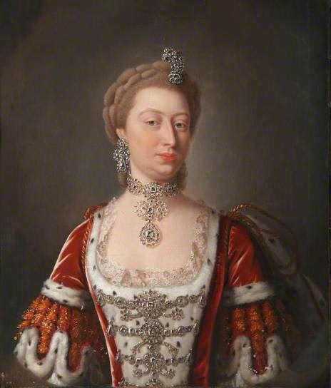 Poryrait de la princesse Augusta de Saxe-Gotha-Altenburg, princesse de Wales, par Jean-Baptiste van Loo: