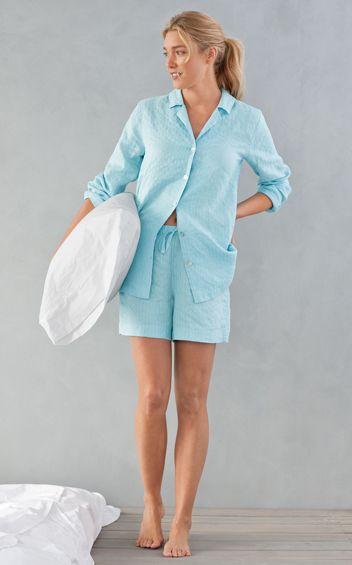 Perfect summer sleepwear, J.Jill Pure Jill Sleep Linen Shirt & Shorts