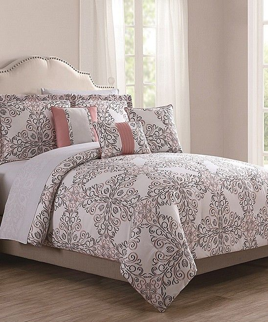 Take A Look At This Coral Gray Gloria Reversible 10 Piece Comforter Set Today Comforter Sets Duvet Sets Chic Home