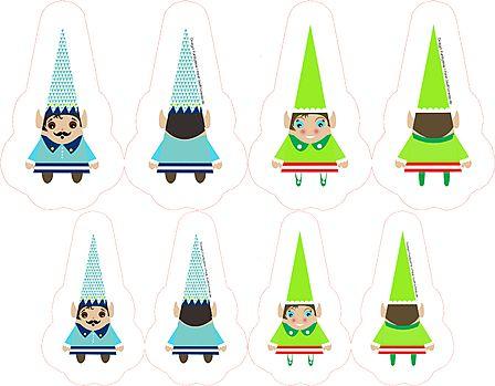 Weihnachtsbaumschmücker zum Selbernähen. Design: Funkytime + Print: www.Stoff-Schmie.de
