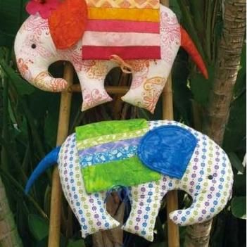 Circus Elephants sewing pattern: