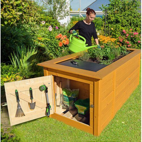 207 Cm X 92 Cm Hochbeet Weka In 2020 Outdoor Furniture Decor Outdoor Storage