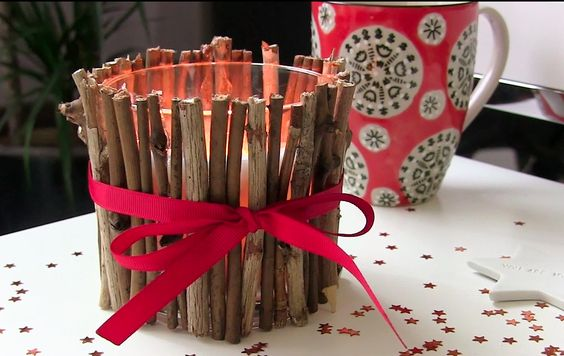 http://mademoisellebluegrey.blogspot.fr/- DIY - bougie - Do It Yourself - noël - idée - déco - homemade - home sweet home - fait main - décoration - tuto - tutoriel - blog - christmas - appartment - maison - blog - youtube - video - bois - branches - ruban -