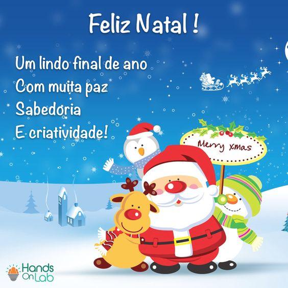 Desejamos um Feliz Natal a todos vocês e suas famílias! Um final de ano com muita paz, sabedoria e criatividade! #handsOnLab #felizNatal #paz #sabedoria #criatividade #nossosVotos