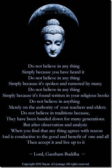 Do not believe anything...