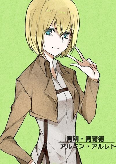 Attack On Titan Armin And Christa
