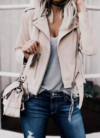 nude leather jacket.: