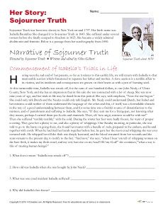 Printables 9th Grade Social Studies Worksheets activities comprehension and the ojays on pinterest free printable african american history month activity about sojourner truth worksheet is designed