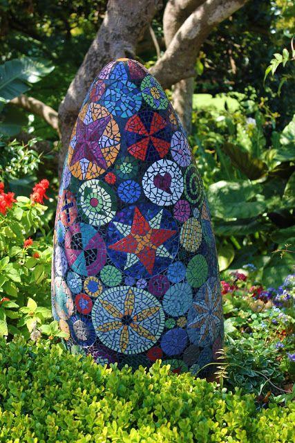 Mosaic garden balls similar for sale MosaicsGlass Pinterest