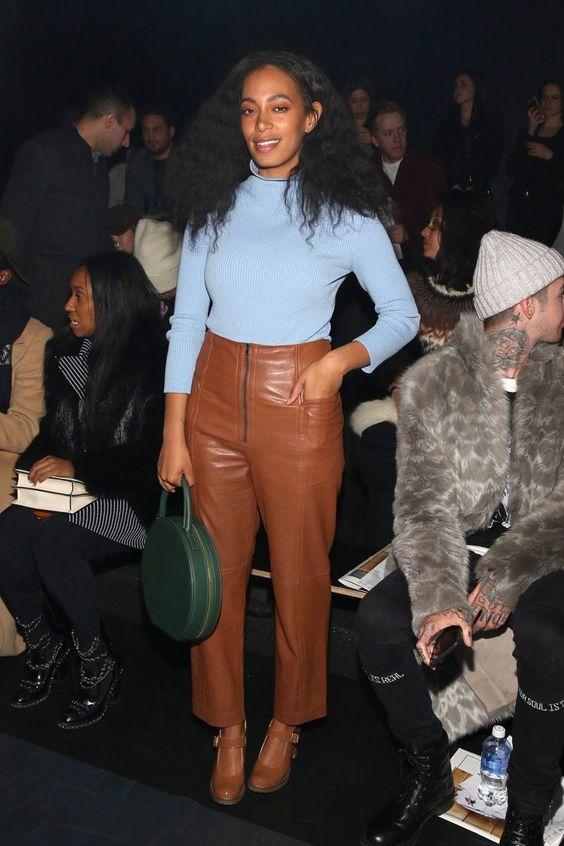 Pin for Later: Le Meilleur de la Fashion Week de New York Se Trouvait au Premier Rang Solange Knowles Au défilé Baja East.