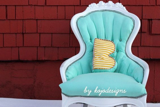 Vintage chair redo. Check out the site for step by step instructions on how to do this...the before and after pics are amazing!