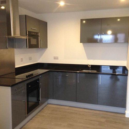 New Kitchen Designed And Fitted By Our Kitchen Fitter In Salford New Kitchen Designs Kitchen Design Kitchen Fitters