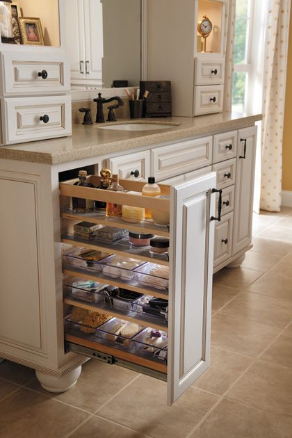 Starmark cabinetry vanity organizer bins are removable for Can you use kitchen cabinets in bathrooms