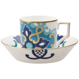 Villeroy & Boch Authentic Avantgarde Coll. Majestic Blue Mokka-/Espressotasse 2tlg.  www.villeroy-boch.at