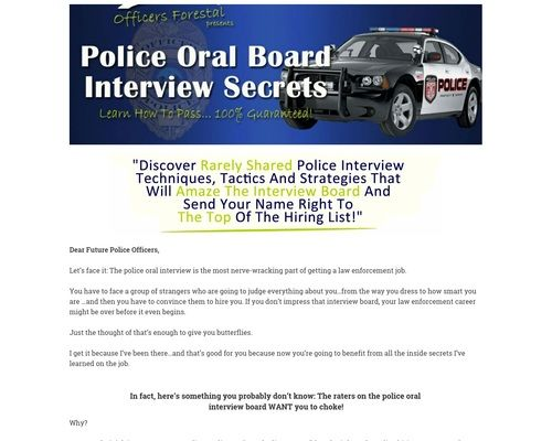 Become A Cop Interview Study Guide Converting Very Well This Or