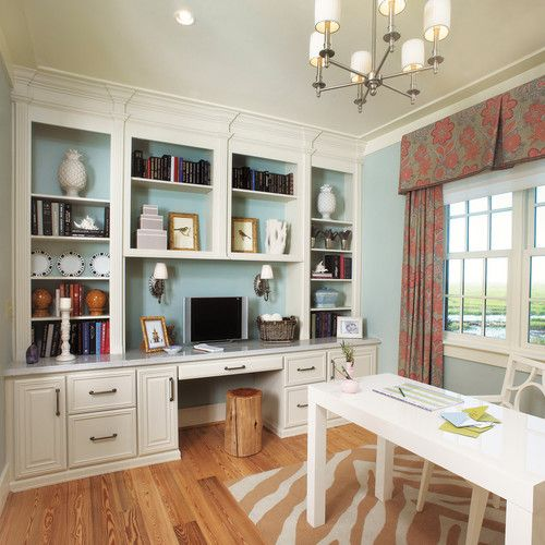 Fieldstone cabinetry in coastal living magazine home - Home office cabinet design ideas ...
