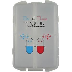 Tati - Pilulier Boite à Médicaments 10 Compartiments Monsieur et Madame Pilule 10x6,5x3cm. (1.59€)