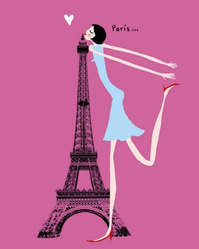this girl in the picture loves Paris and Paris loves her back!