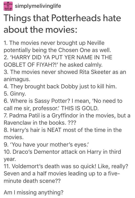 Neville longbottom, Albus dumbledore, Rita skeeter, Dobby, Voldemort, Ginny…