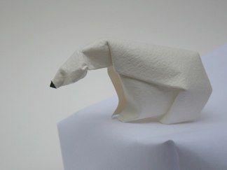 folded paper polar bear   Things I Love   Pinterest ... - photo#23