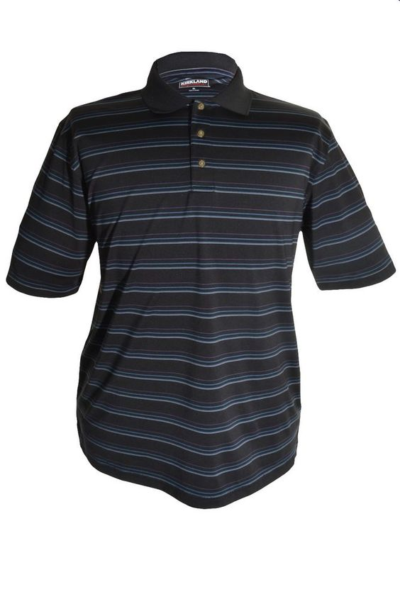Kirkland Golf Performance Polo Shirt Mens Wicking Stretch