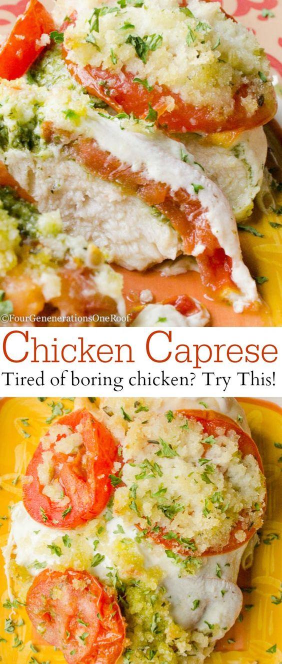 Chicken basil mozzarella recipes