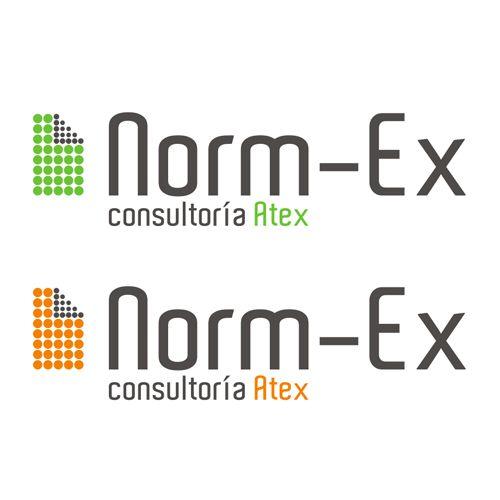 """segunda propuesta de logotipo para la empresa de Consultoría Atex """"Norm-ex"""""""