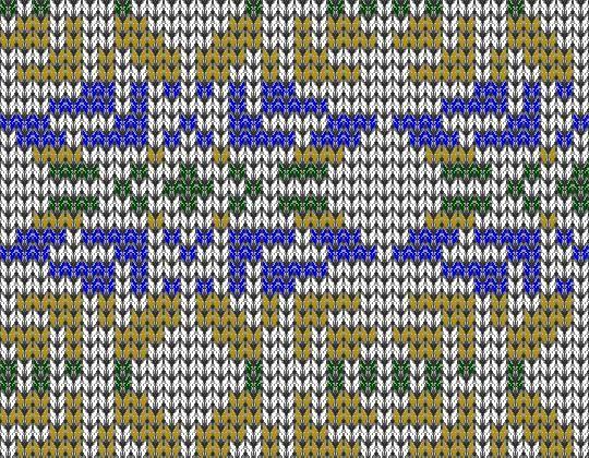 Подбор цветовой гаммы для вязания жаккардового узора   fair isle ...
