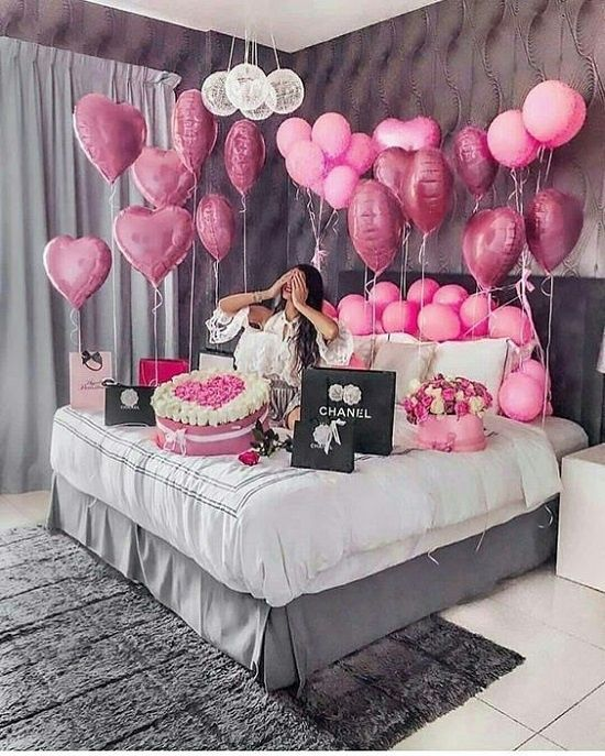 Super Cute Ideas To Decorate Room For Your Bestie Bride To Be Blog Royal Pepper Banquets Birthday Decorations Birthday Room Decorations Birthday Goals