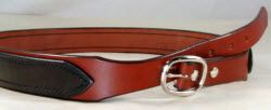 Double layer tapered leather gun belt