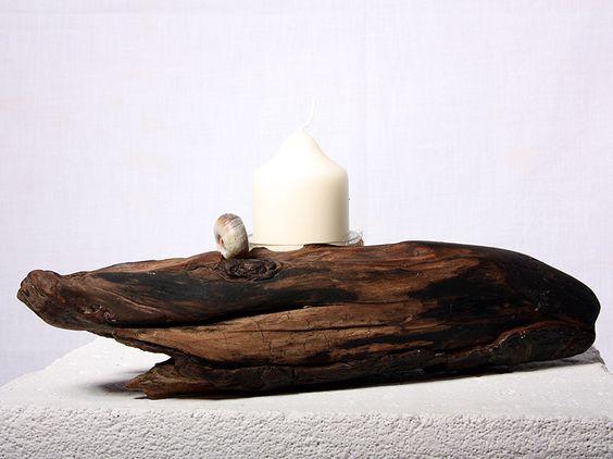 Magnus - Teelichthalter aus Treibholz, Unikat handgefertigt