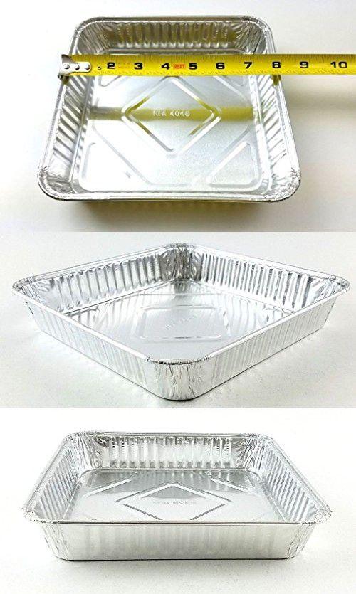 8 X 8 Disposable Square Cake Aluminum Foil Pan 500 Cs Ref 4048