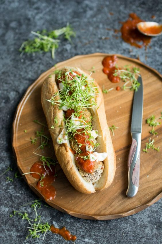 Vegan Meatball Sub. This delicious version uses mushrooms as a base for a…